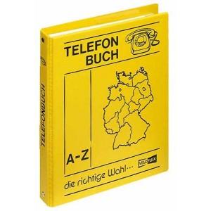 Telefon Ringbuch A5 gelb 4-Ring 16mm