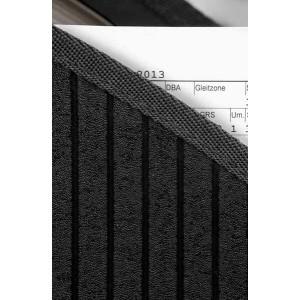 Stehsammler schwarz m. 23 Fäch PP 2,0 mm gestreiftes Design