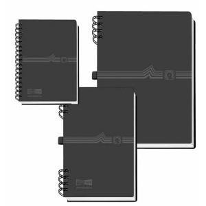 Telefonringbuch mit Spiralbind A5 schwarz