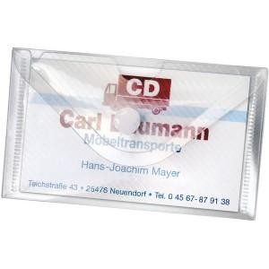 Visitenkartenetui Crystal 100x60mm, pp, 10er SB-Packung