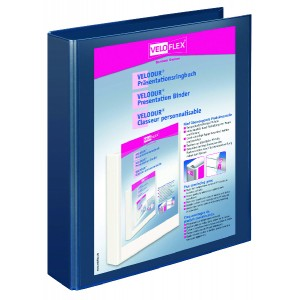 Präsentationsringbuch Velodur A4 4-Ring 30mm Ringdurchmesser dblau