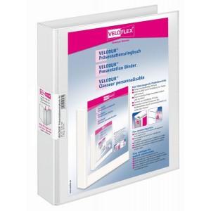 Präsentationsringbuch Velodur A4 4-Ring 30mm Ringdurchmesser weiß