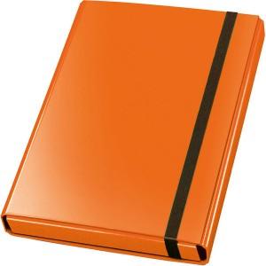 Sammelbox Velocolor A4, orange, 3 feste Innenklappen, Gummiband,