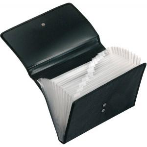 Fächermappe Office, DIN A4, schwarz 12 Fächer mit Taben, Magnetverschluß