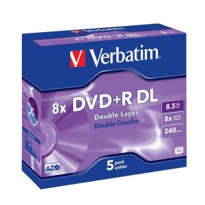 Rohling DVD+R Double Layer 8,5 GB 8-fach im Jewel Case