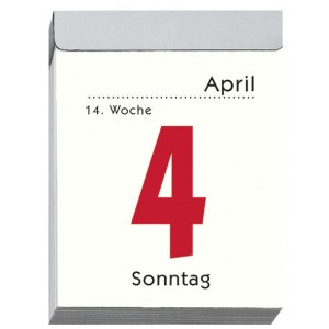 Tagesabreißkalender 5,5 x 7 cm # 302-0000