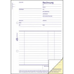 Rechnung A5 SD 2 x 40 Blatt für Kleinunternehmer