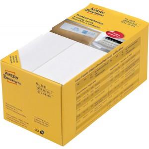 Etikett Frankier 163x43 mm, weiß, 500 Blatt = 1000 Stück