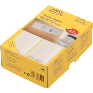 Etikett Frankier 138x48 mm, weiß, 250 Blatt = 500 Stück