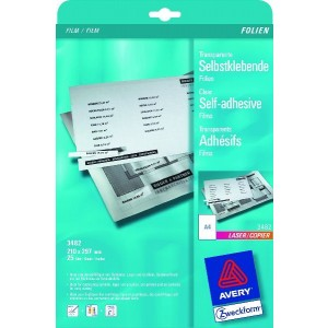 Laser+Kopier-Folie A4, 0,13mm selbstklebend